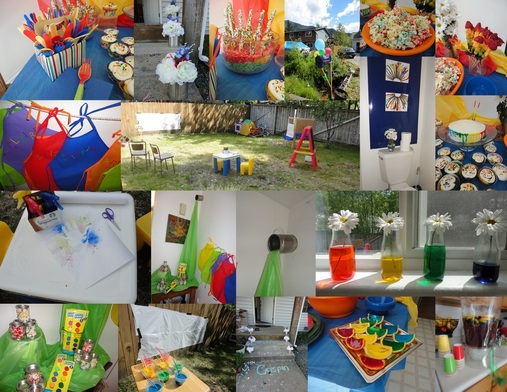this birthday party for a two year old boy was full of fun